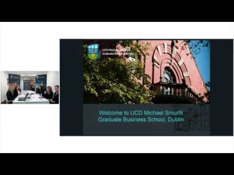 WEBINAR: SMURFIT MBA - WHY IRELAND? WHY SMURFIT?