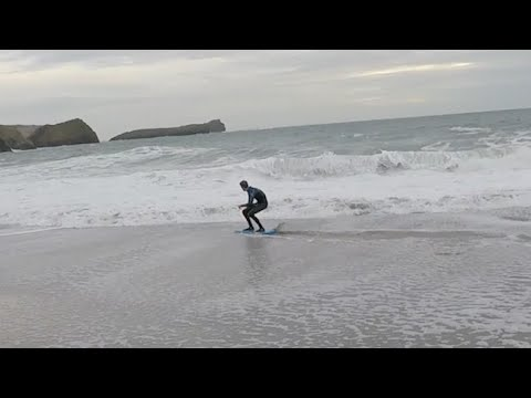 skimboarding in slowmotion