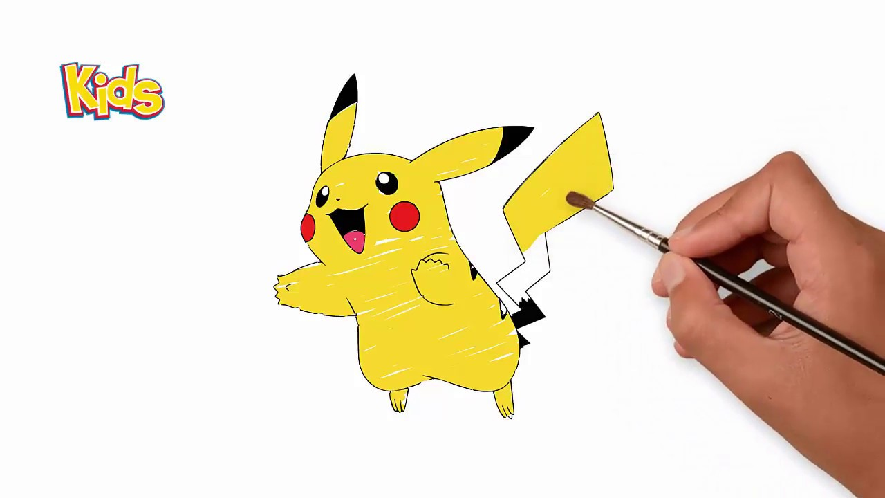 How To Draw Pikachu - Colorin Pages For Kids - POKEMON ...
