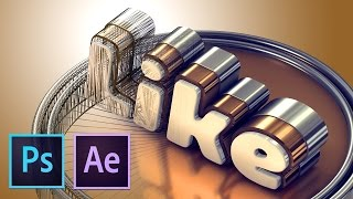 Делаем вкусный 3D Текст (Photoshop, After Effects+Element 3D)