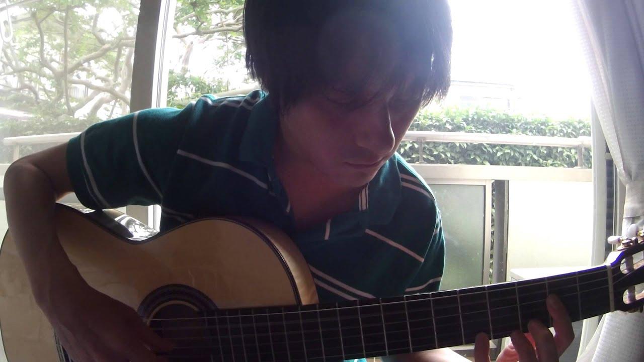 Solo guitar tab]fine on the outside(priscilla ahn) 田中佳憲 cover.
