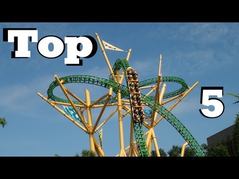 TOP 5 RIDES AT BUSCH GARDENS TAMPA! HD - 2017!