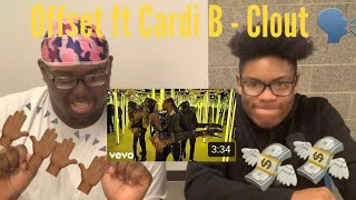 Offset ft Cardi B - Clout  - Reaction