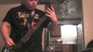 Throw yourself away bass cover.