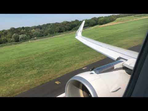 4K Lufthansa A320 Sharklets Takeoff At Hamburg