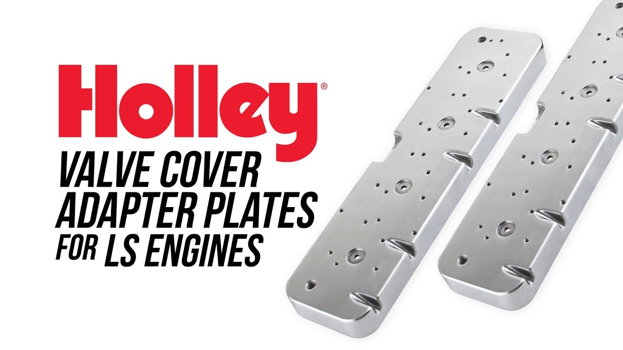 How To Install Holley LS Engine SBC Valve Cover Adapter Plates