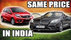 Mercerdes price for Honda in India , why cars in INDIA are expensive ?