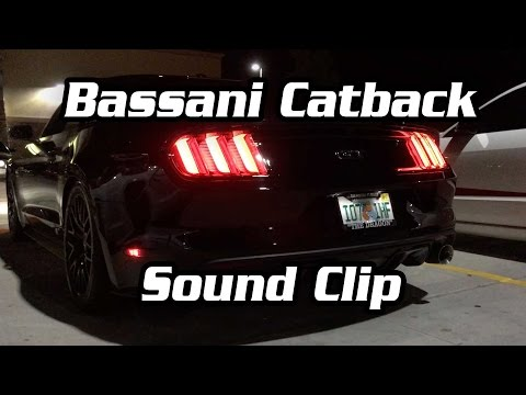 2015+ Bassani Mid-Muffler X Catback Sound Clip