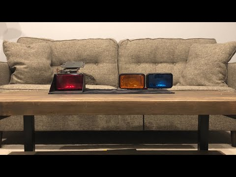 CopLite LAPD Slicktop Light Setup (ca Steady Burn Red Dash Flashing Blue Amber Deck Lights Cop Lite)