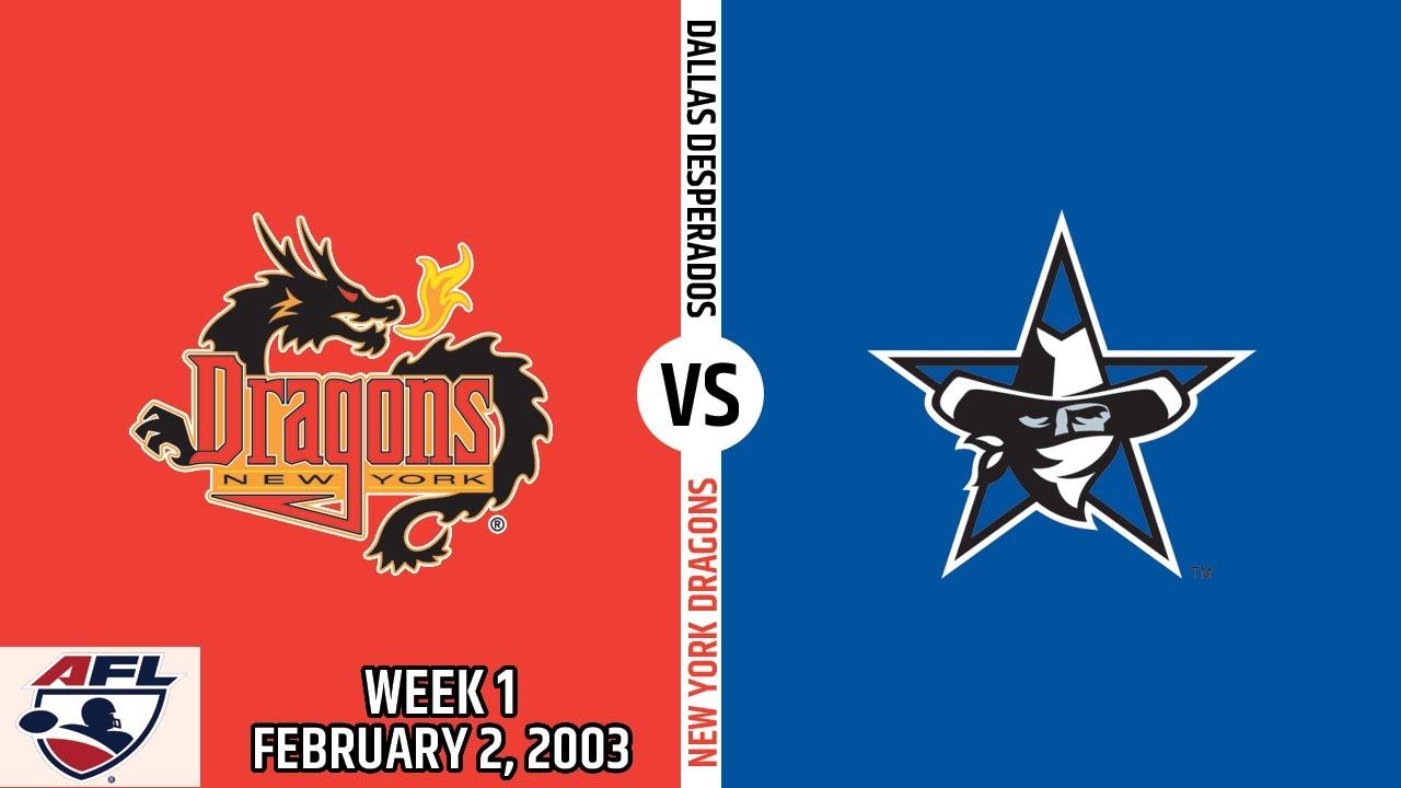 2003 Season Week 1 New York Dragons At Dallas Desperados February 2 2003 Youtube