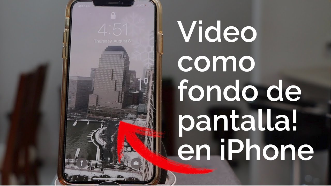 Como Poner Un Video De Fondo De Pantalla En Iphone Youtube