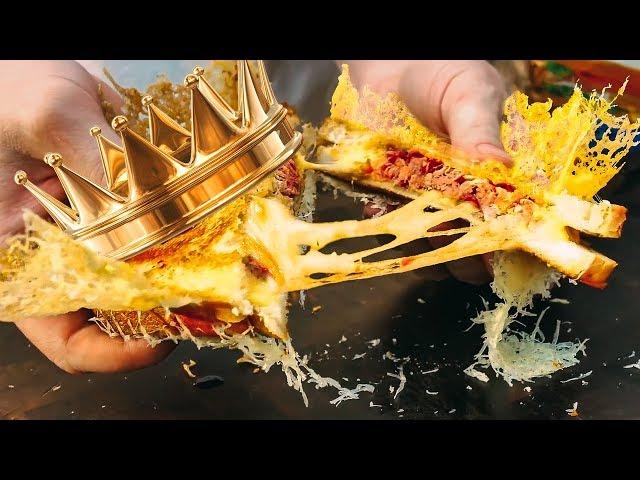 Вкуснейший сендвич с сырной короной