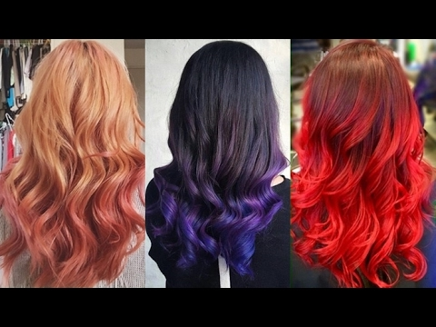 Ombre Haarfarben Trends 2017 Youtube - Haarfarbe Ombre
