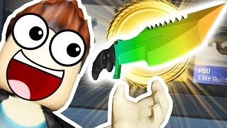 *YOU WON'T BELIEVE IT* EPIC LOOT CRATE KNIFE OPENING - ROBLOX MURDER MYSTERY | JeromeASF