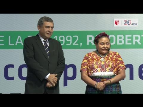 Rigoberta Menchú, Premio Nobel de la Paz 1992, en el Campus Lima Norte.