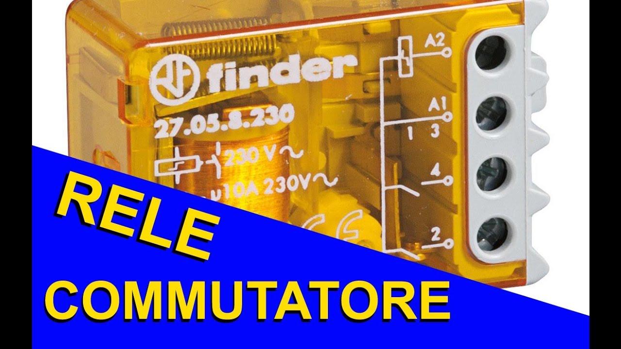 Schema Elettrico Per Collegare Un Relè : Come collegare un relè commutatore per comandare due