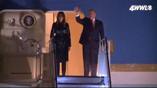 Trump lands in New Orleans for College Football Championship