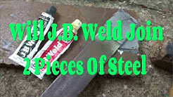 JB Weld Joining 2 Pieces of Steel - 2nd Try