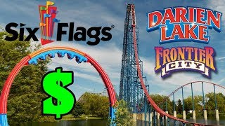 Six Flags Buys 5 New Theme Parks! (Darien Lake, Frontier City, etc)
