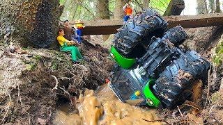 CRASH TRACTOR Deutz FELL from BRIDGE to river! RC BRUDER Toys
