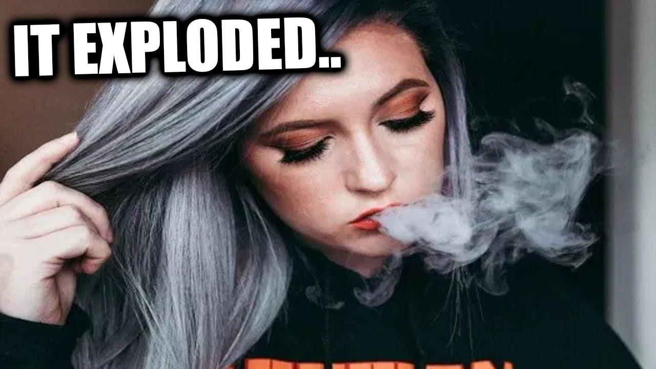 HER VAPE EXPLODED...