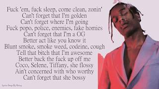 A$AP Rocky - Fukk Sleep ft. FKA twigs | Lyrics Songs