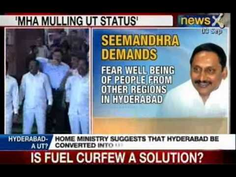 NewsX: Govt earlier suggested Hyderabad to be a joint capital for 10 years