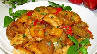 нежнейшее филе, с баклажанами в чудесном соусе! / Tender fillet with eggplant in a wonderful sauce