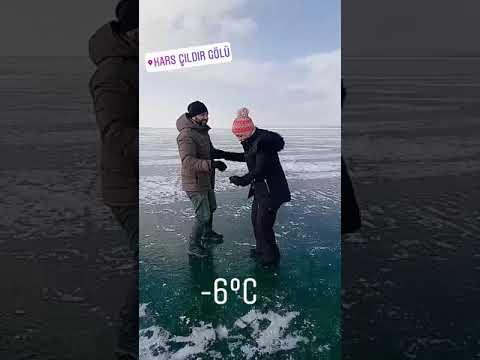 kars çıldır golü buzda dans