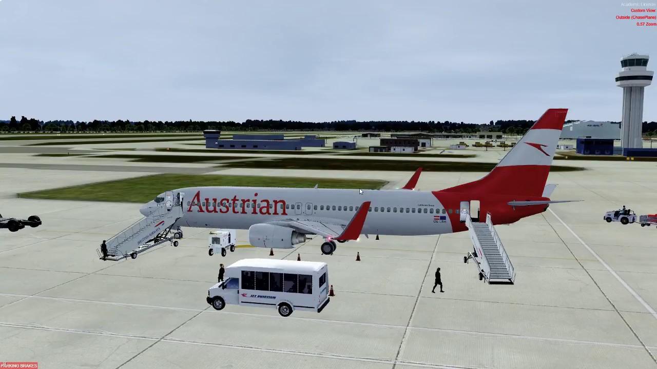 PMDG 737-800, EGKK/LOWW with GSX level 2