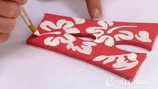 How To Paint A Tropical Hibiscus On Wood Letters