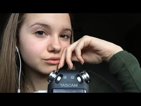 [ASMR] New Microphone!!! Mouth Sounds (kissing, teeth chattering,...) and talking!