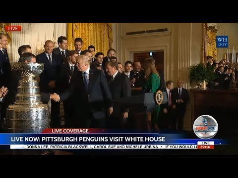 WATCH: PITTSBURGH PENGUINS Visit The WHITE HOUSE; Meet PRESIDENT TRUMP 10/10/17