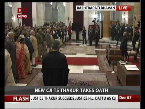 Justice Thakur takes Oath as new Chief Justice of India