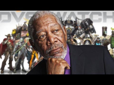 Morgan Freeman Plays Overwatch