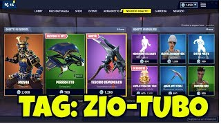 FORTNITE SHOP today April 8th skin MUSHA, HIME and new pickaxe TESCHIO DEMONIACO