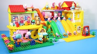 Peppa Pig Lego House With Water Slide Toys - Lego House Creations Toys For Kids #5