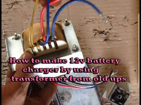 How to make 12v battery charger by using transformer from old UPS