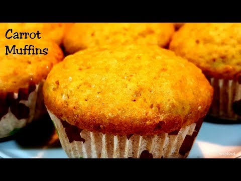 CARROT MUFFINS Recipe -Breakfast / Snack Recipe -Kids Favourite-No Electric Beater Or Mixer Required