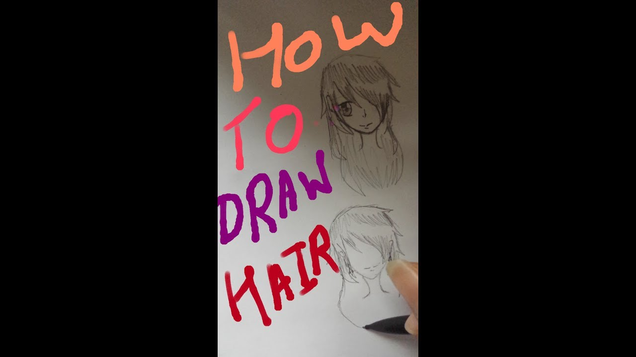how to draw anime hair youtube