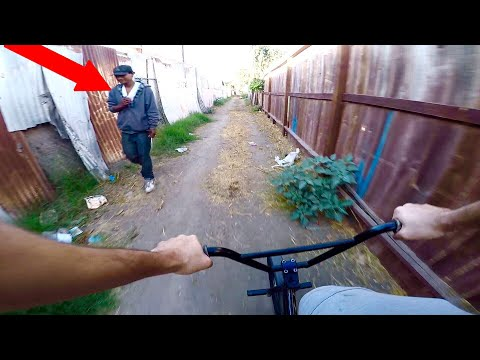 RIDING BMX IN COMPTON GANG ZONES 2 (BMX IN THE HOOD)