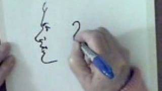 How to draw the profile of a mans face