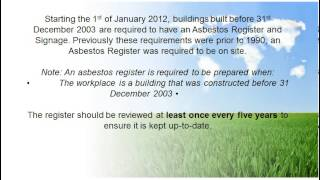 Asbestos Reporting identification Testing and Management  in Strata  Industrial and  Commercial  Bui