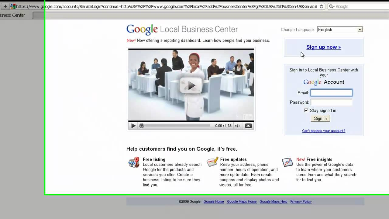 Adding your business to the Google Free Local Directory by Martin Brossman
