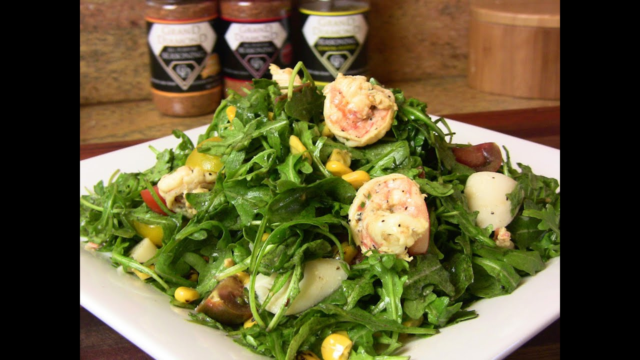 SHRIMP and ARUGULA SALAD with FRESH LEMON VINAIGRETTE  |Cooking With Carolyn
