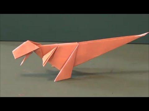 簡単 折り紙 折り紙 恐竜 作り方 : youtube.com