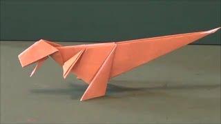 Repeat youtube video 恐竜「ティラノサウルス」折り紙Dinosaur