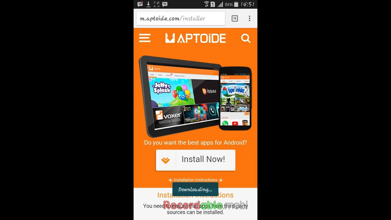 How to download aptoide on samsung