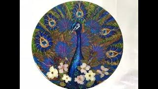 75 - Epoxy Resin, Oil, Acrylic Art & Real Flowers.