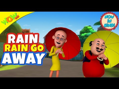 Rain Rain GO Away | Hindi Songs for Children | Motu Patlu | WowKidz thumbnail